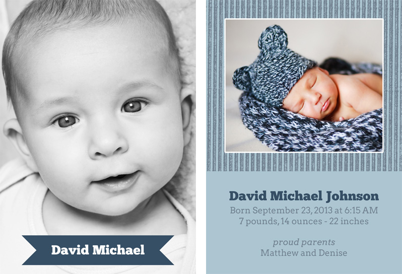 Birth Announcement Template 25 PhotographyPlanet – Birth Announcement Photoshop Template