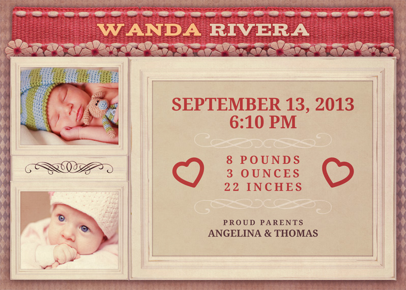 birth announcement example