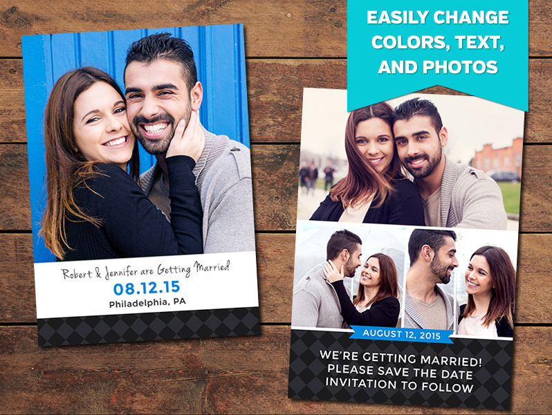 Print Templates Save The Date Card Templates  Charcoal Save The