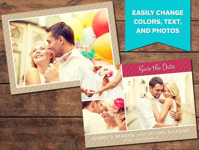 Charming Save-the-Date Card Template