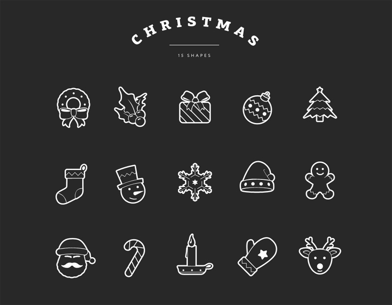 Christmas Shapes Overlays