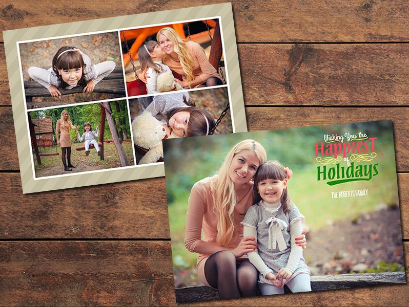 Christmas Cards Print Templates Collage Christmas Card Template