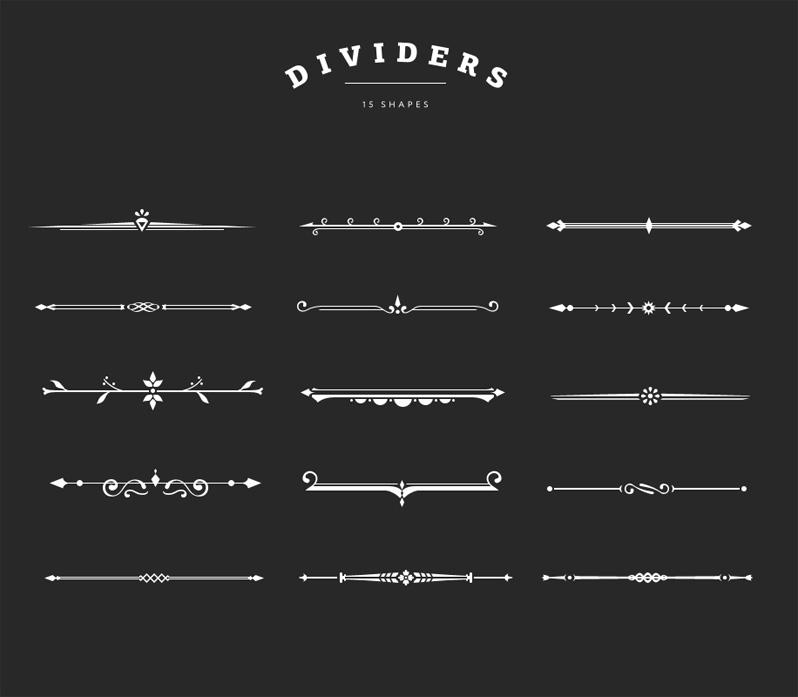 Photo Overlays, Shape Overlays   Decorative Dividers