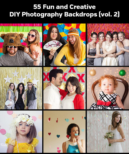 55 Fun and Creative DIY Photography Backdrops