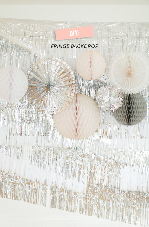 Silver & White Fringe Backdrop