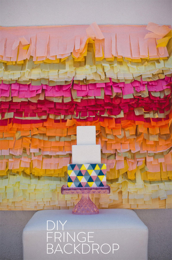 Fringe Cake Backdrop