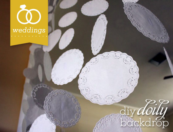 Doily Wedding Backdrop