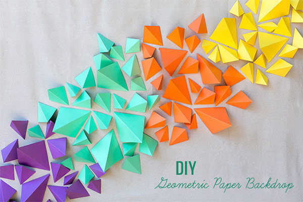 Geometric Paper Backdrop