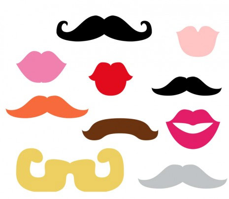 Printable Lips and Mustaches