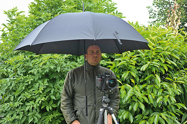 Tripod-Mounted Umbrella Holder