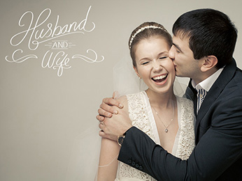 Elegant Wedding Photo Overlay