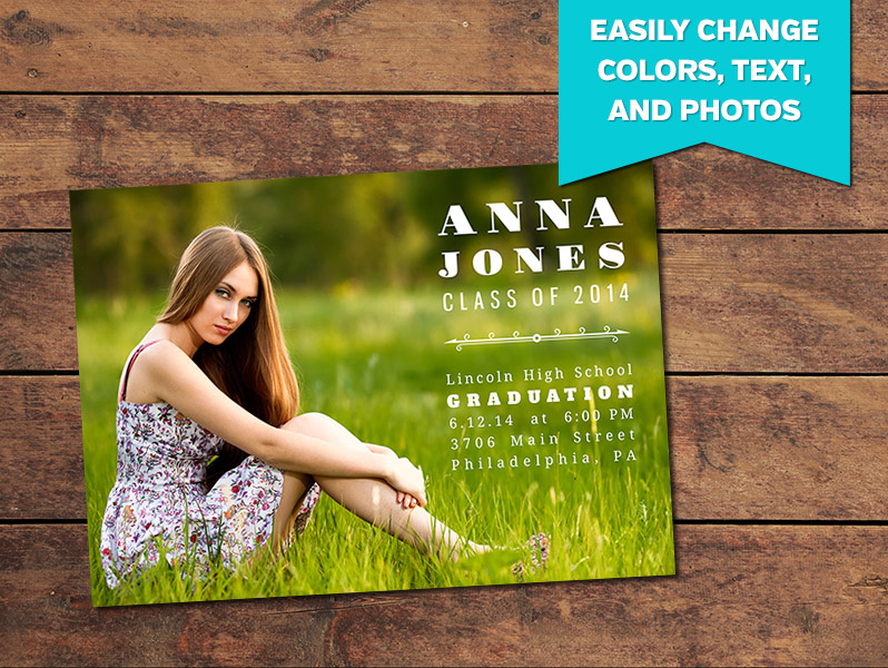 graduation announcements print templates basic graduation