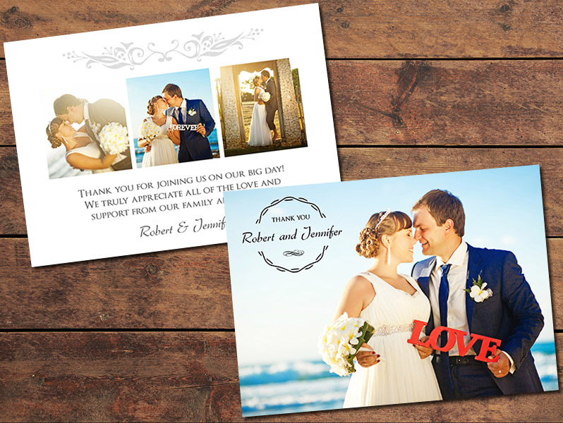 gratitude wedding thank you card template - Wedding Thank You Cards
