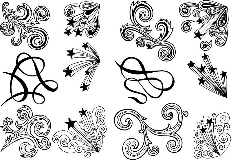 Hand-Drawn Swirl Overlays