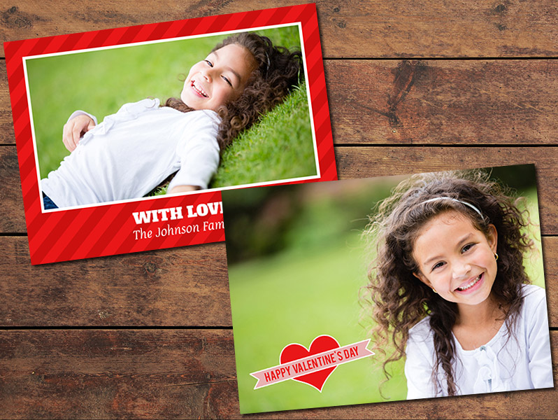 Heart Valentine's Day Card Template