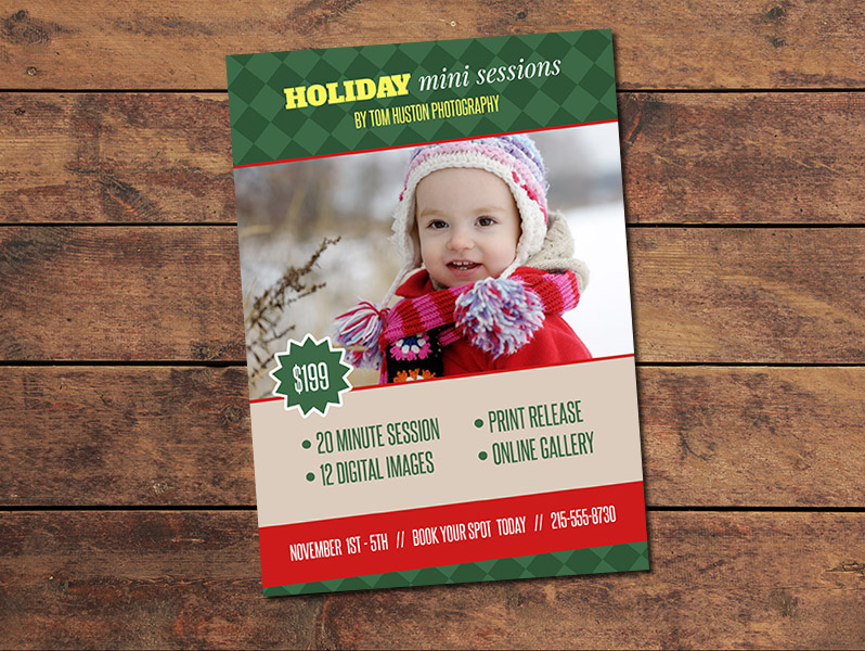 Holiday Mini Session Card Template