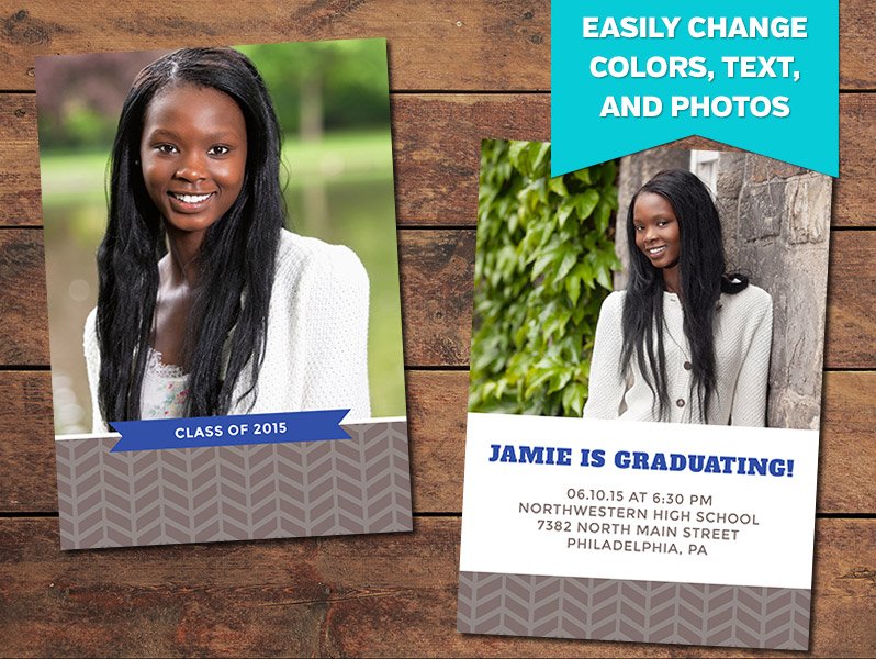 Inspire Graduation Announcement Card Template