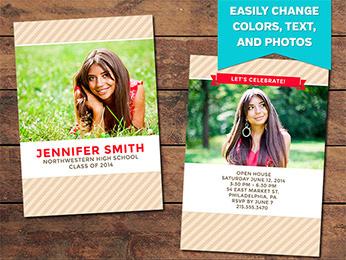 Graduation Announcement Card Templates