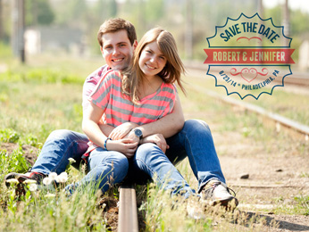 Save-the-Date Badge Overlays