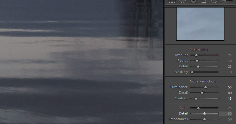 Applying Sharpening and Noise Reduction in Lightroom