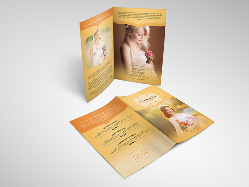 Maternity Photography Brochure Template