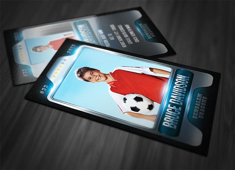 Print Templates, Sports Cards | Metallic Sports Card Template ...