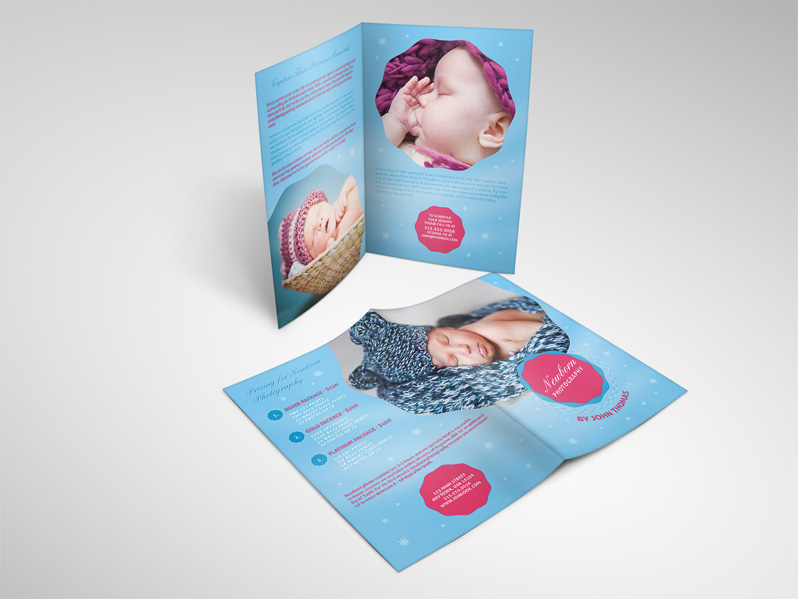 Newborn Photography Brochure Template