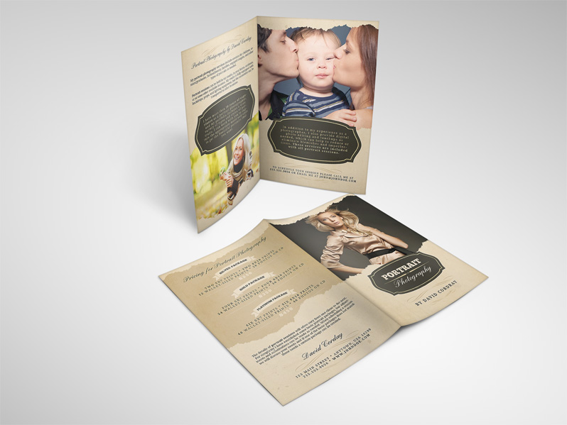 Portrait Photography Brochure Template
