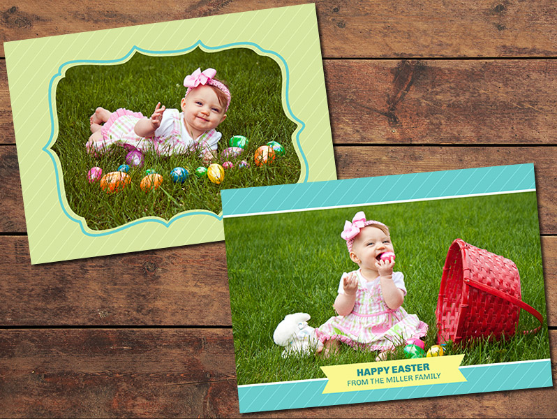 Ribbon Easter Card Template