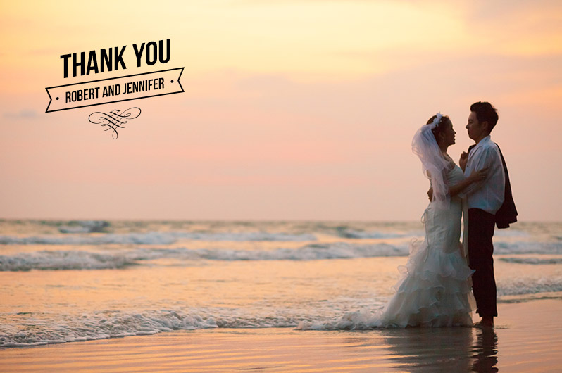 Wedding Thank You Photo Overlays