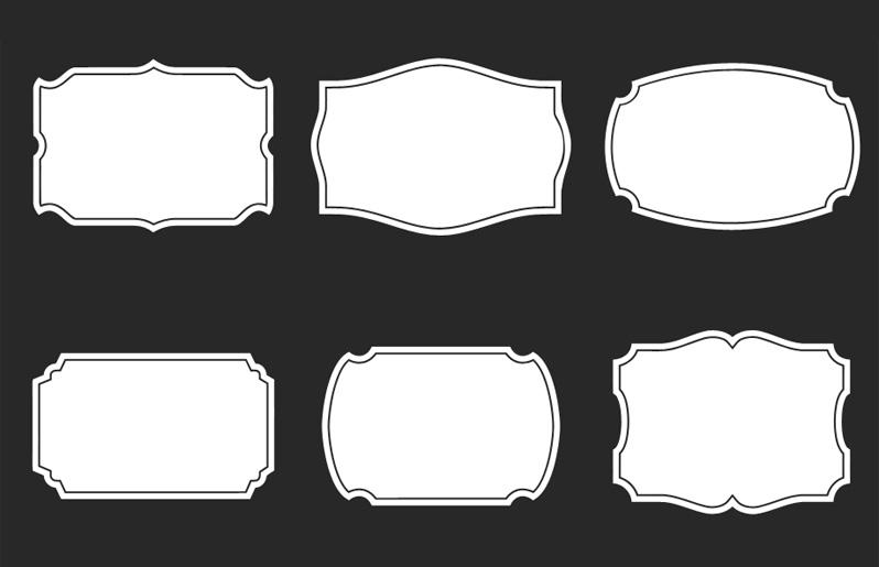 Template shape photoshop frame