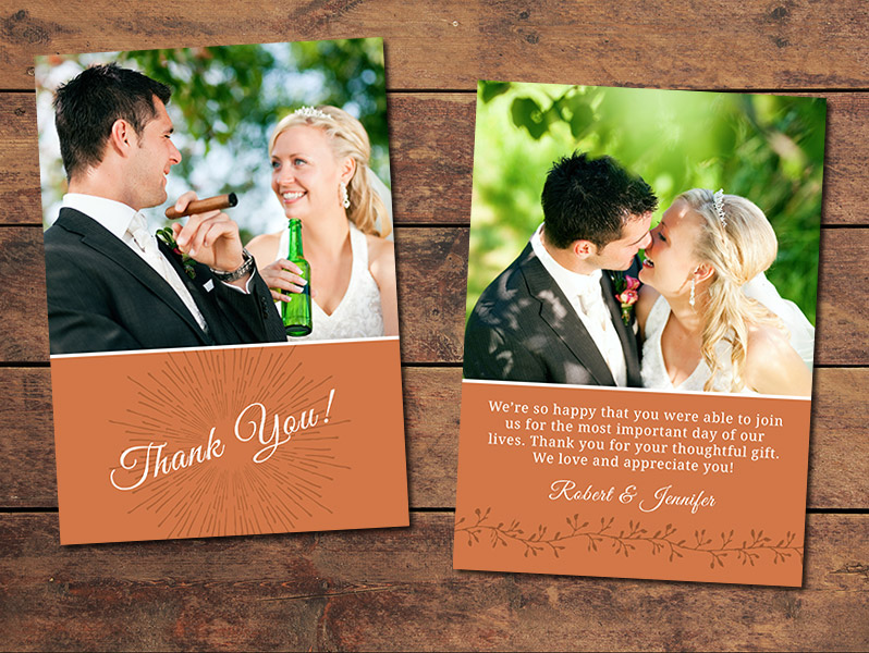 Celebrate Thank You Card Template