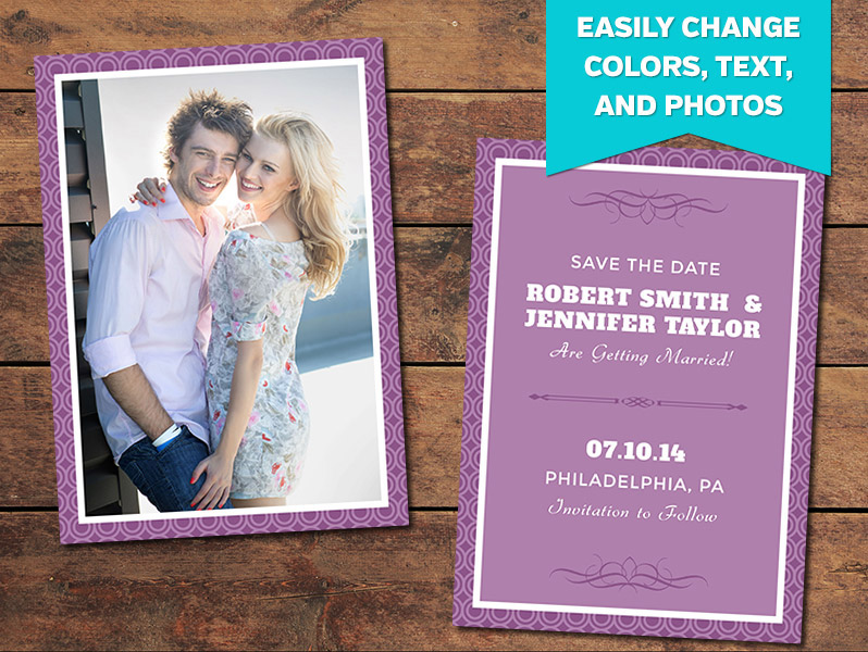 Circles Save-the-Date Card Template