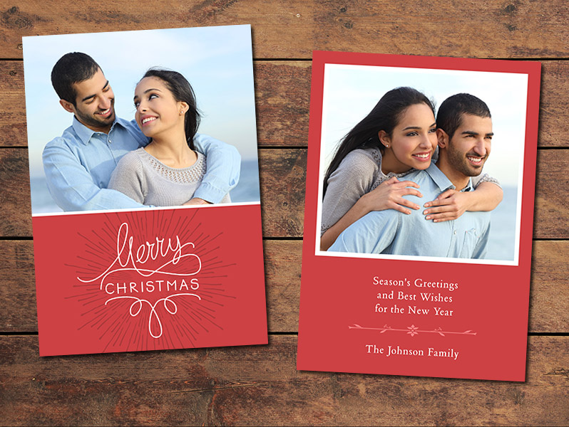 Classic Christmas Card Template