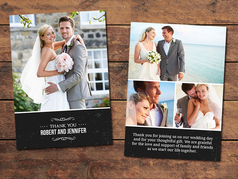 Classic Wedding Thank You Card Template