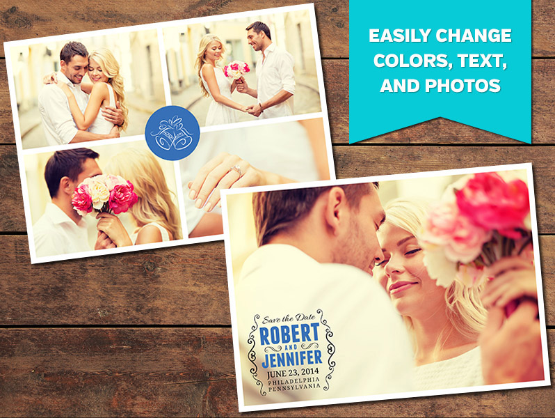 Collage Save-the-Date Card Template