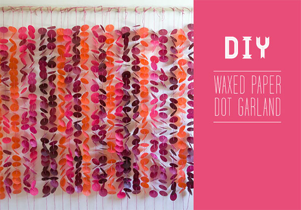 Waxed Paper Dot Garland