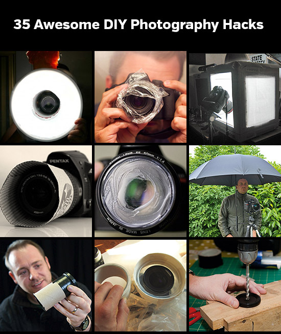 35 Awesome DIY Photography Hacks