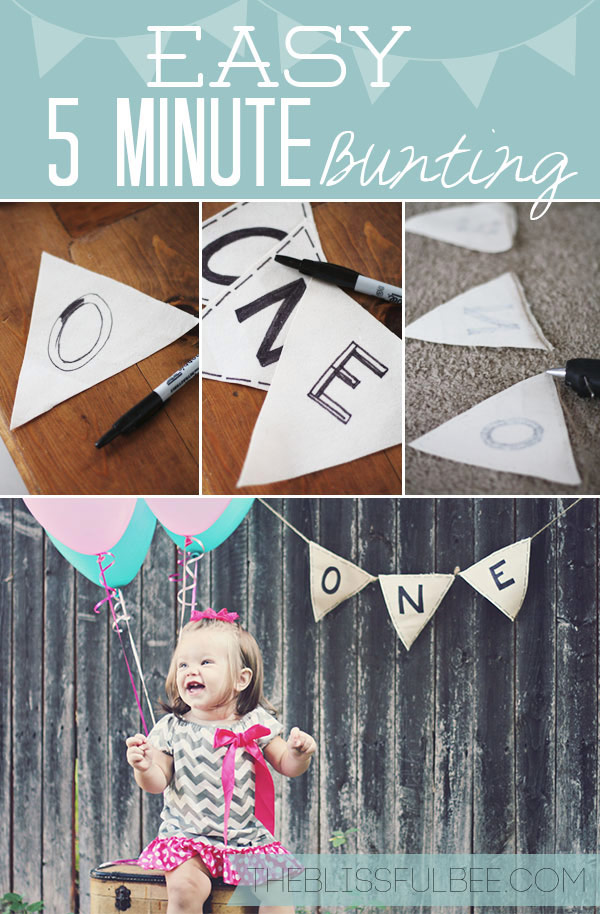 Easy Five Minute Bunting Using a Sharpie