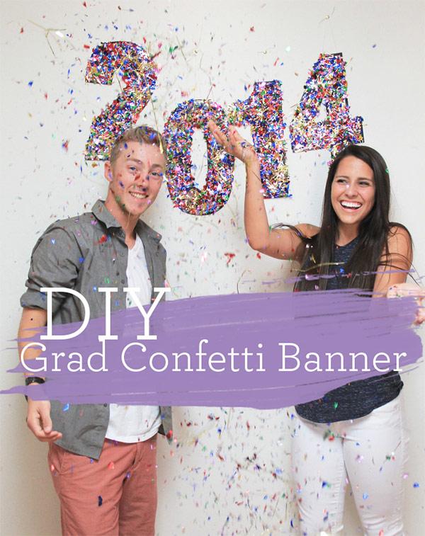 DIY Graduation Confetti Banner