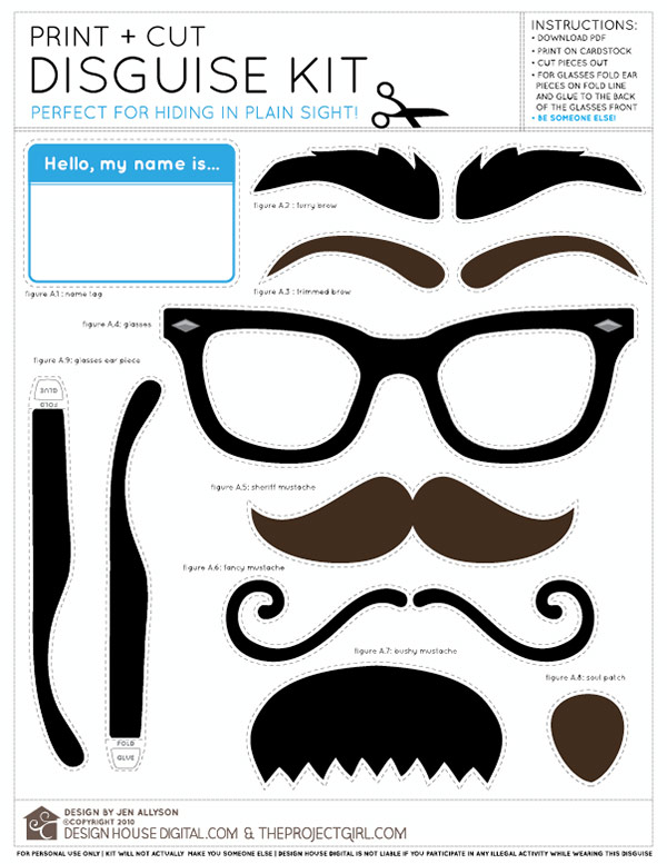 Printable Disguise Kit
