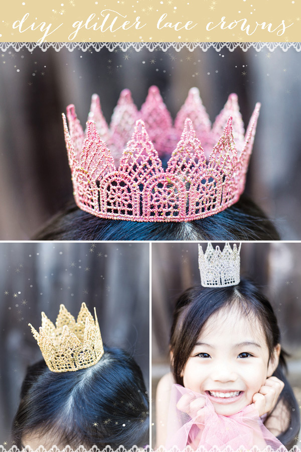 Glitter Lace Crowns