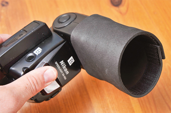 Boost Your Flash with Foam and Velcro