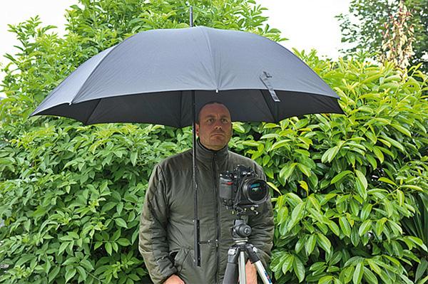 Tripod-Mounted Umbrella Holder