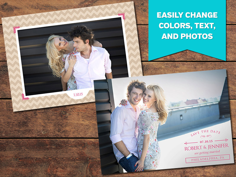 Elated Save-the-Date Card Template