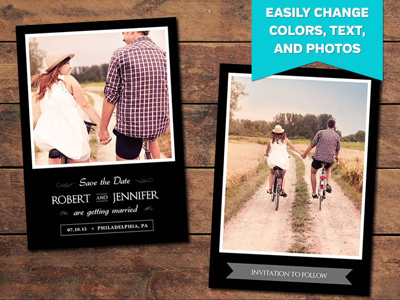 Exquisite Save-the-Date Card Template