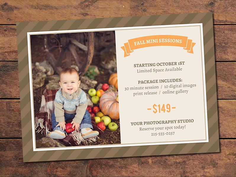 Fall Mini Session Card Template