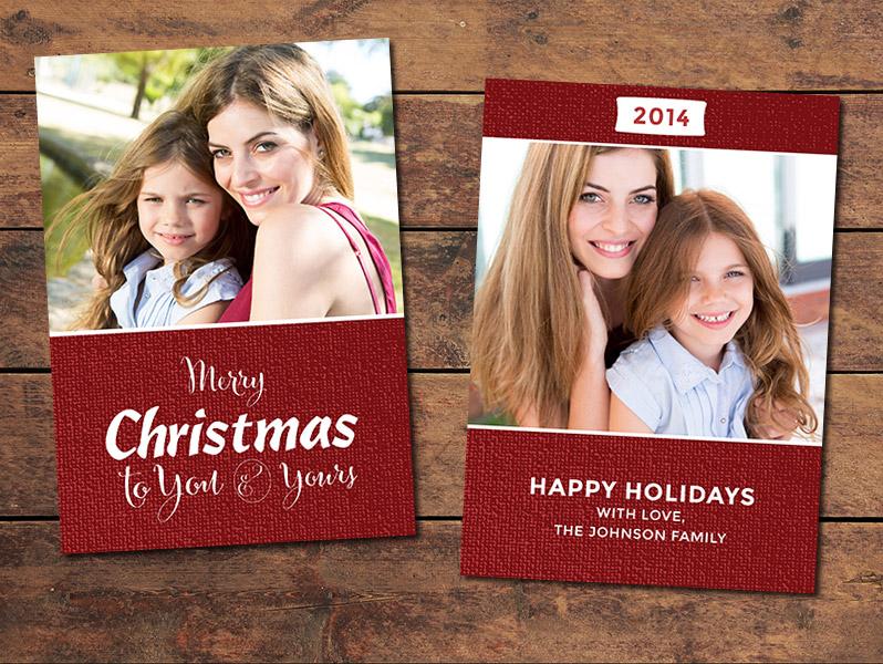 Festive Christmas Card Template