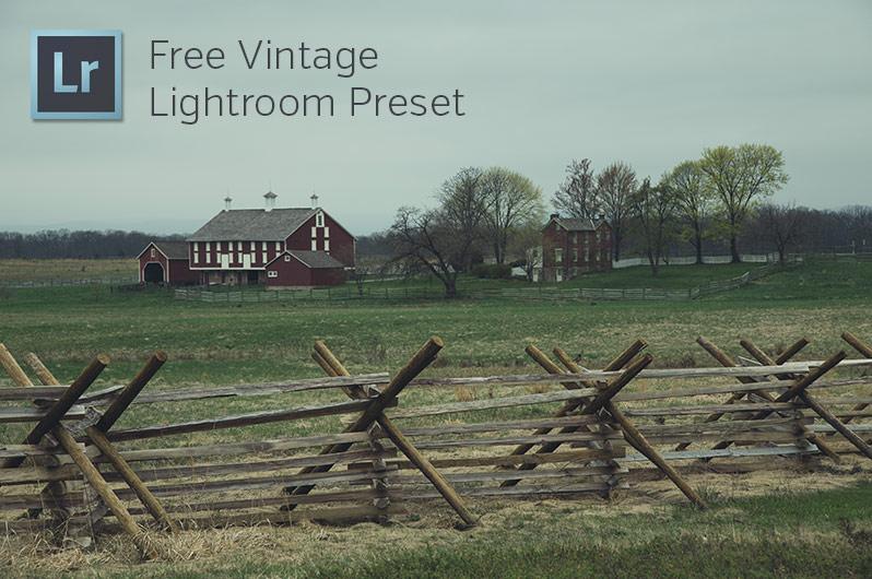 Free Vintage Lightroom Preset