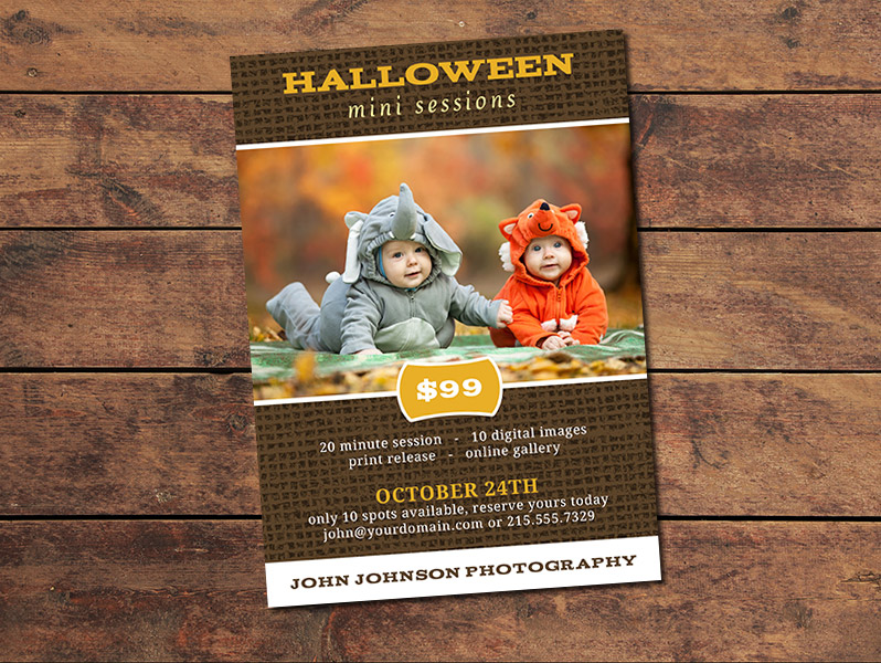 Halloween Mini Session Card Template